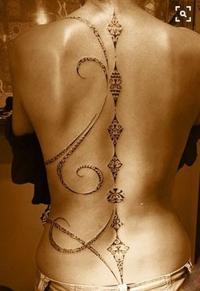 Awesome spinal tattoo