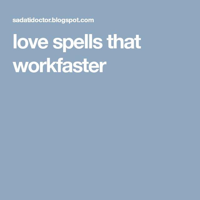 love spells that workfaster