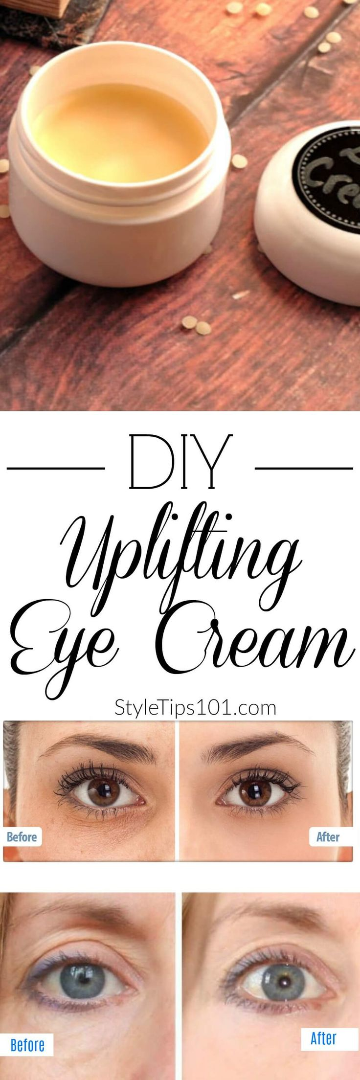 100% all natural ingredients to de-puff tired eyes.