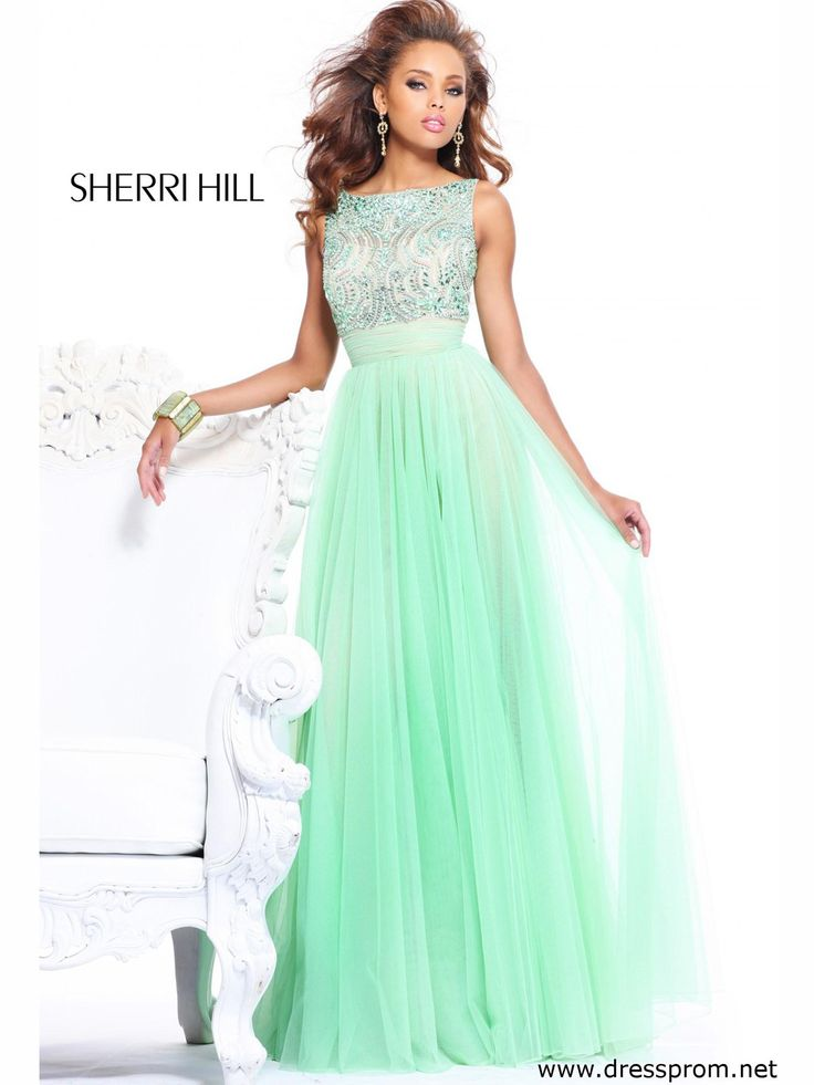 Perfect for high school pageant. Sherri Hill 11022 comes in mint, blush, aqua, and many more colors