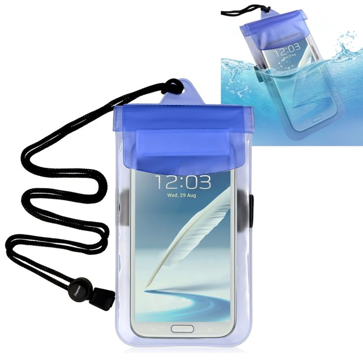 Insten Universal Waterproof Pouch Dry Bag Case with Armband Lanyard for Cell phones, Blue