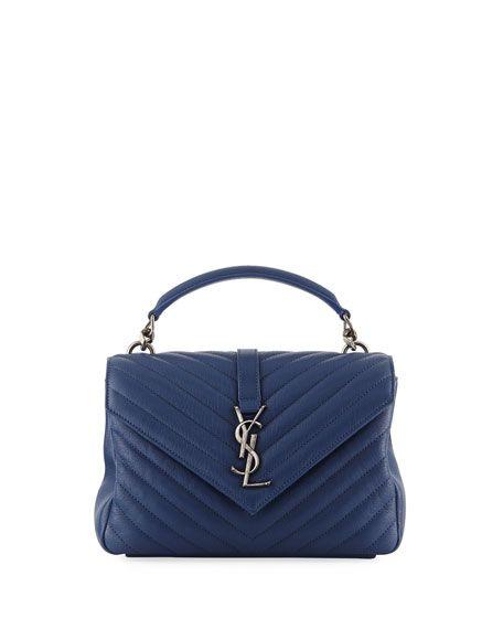 1ad28f309a73 Monogram YSL College Medium V-Flap Crossbody Bag by Saint Laurent at Neiman  Marcus