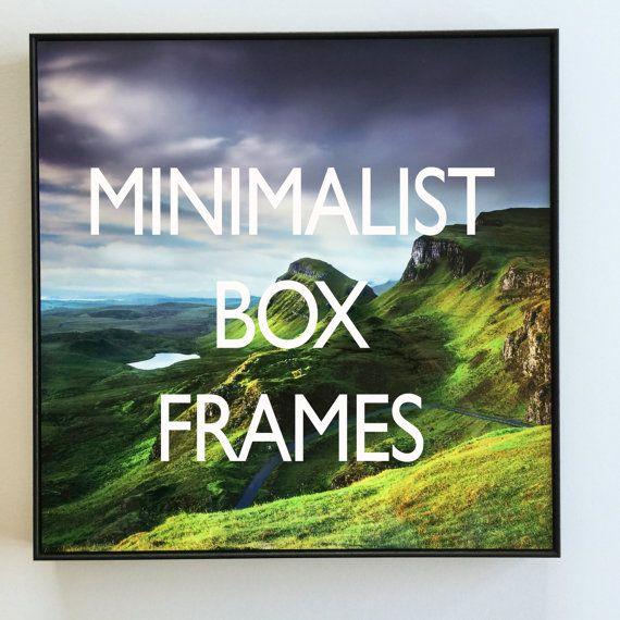 FRAMES - Picture Frames - Framed Prints - Photo frame - BOX FRAME - framed art- framed wall art - metal wall art - ready to hang