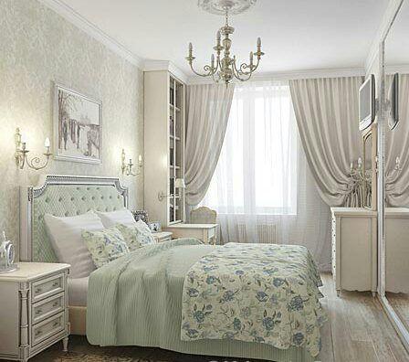 Прекрасный и нежный цвет спальни.