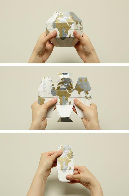 """Earth in Pocket,"" portable mini globe from Geografia"