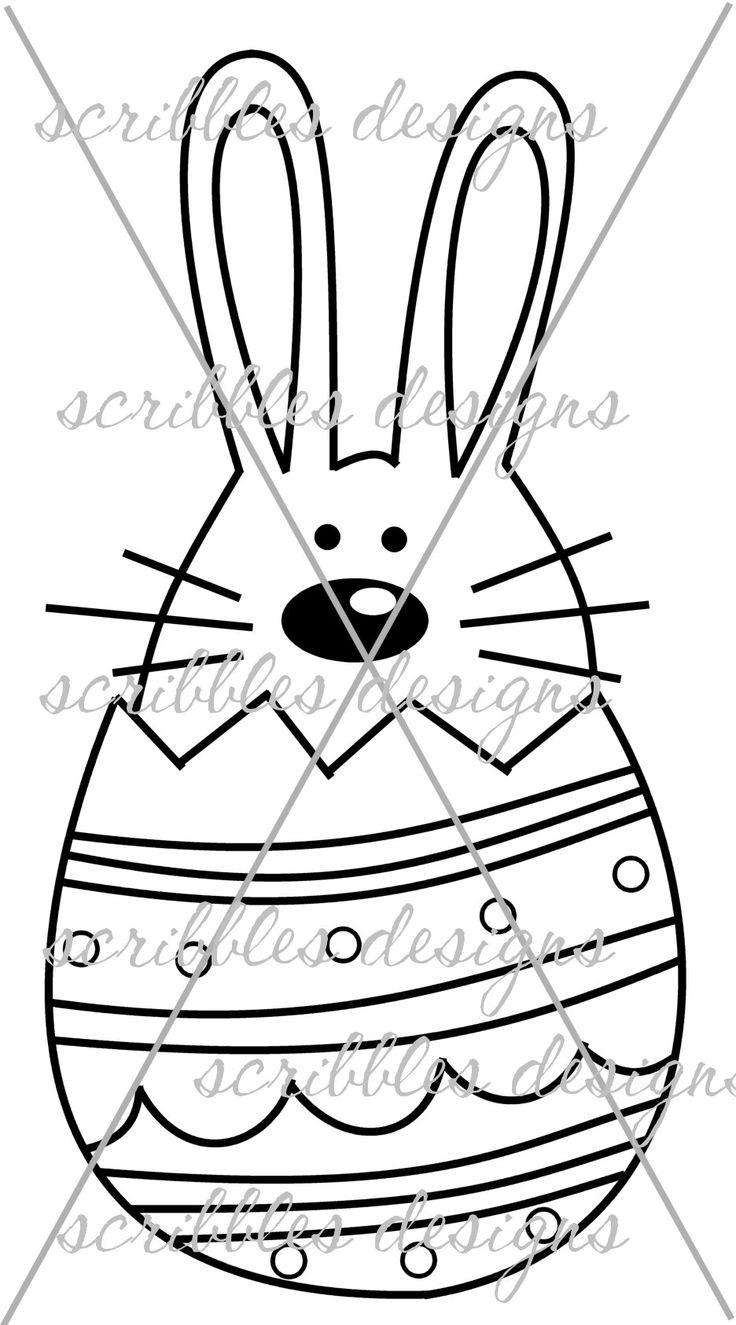 $3.00 Hoppy Egg 3 (http://buyscribblesdesigns.blogspot.ca/2014/03/422-hoppy-egg-3-300.html) #digital stamps #digis #bunny #Easter #egg #scribbles designs