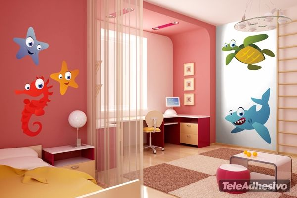 Kinderzimmer Wandtattoo Seahorses