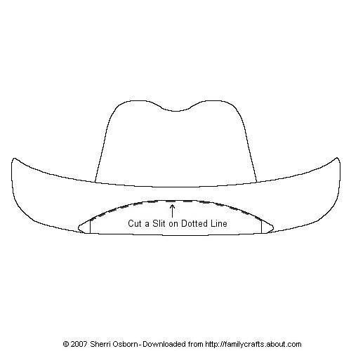Kindergarten Printable hat templates   Print out and color or decorate this cowboy hat for your paper doll.