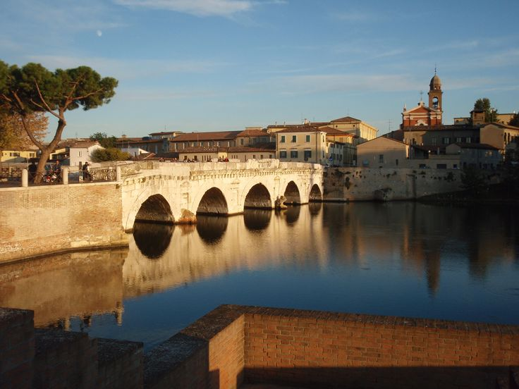 ITALY - RIMINI, ancient Roman bridge