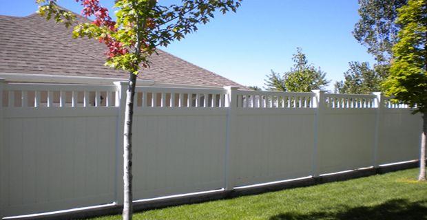 Easy install pvc vinyl fence