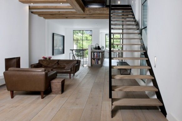 Belle inspiration de parquet en bois & décoration intérieure