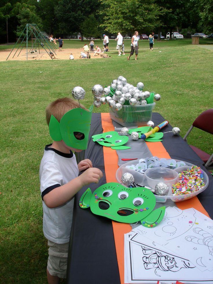 make alien masks for a cute activity