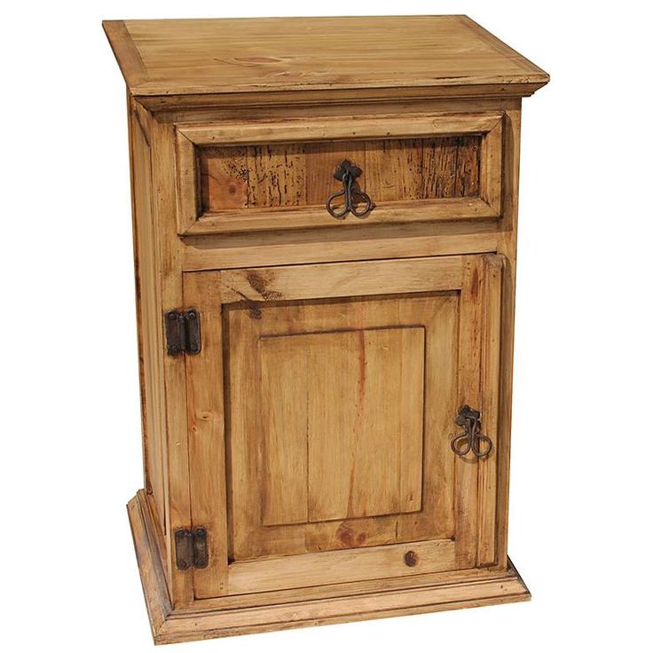 119 best images about rustic pine furniture bedroom for Rustic nightstand ideas