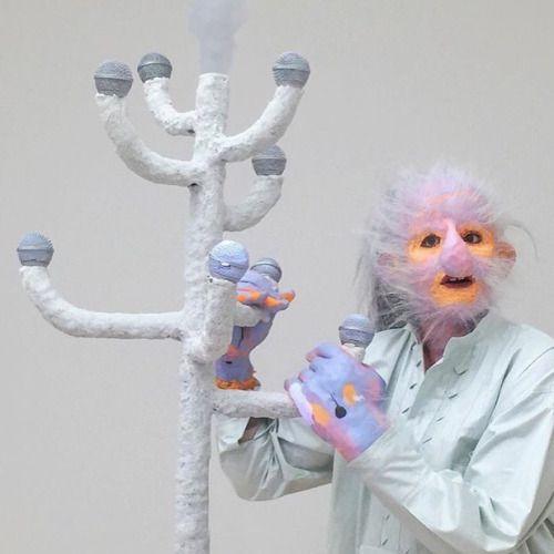 Tori Wrånes performing at the Carl Freedman Gallery on...