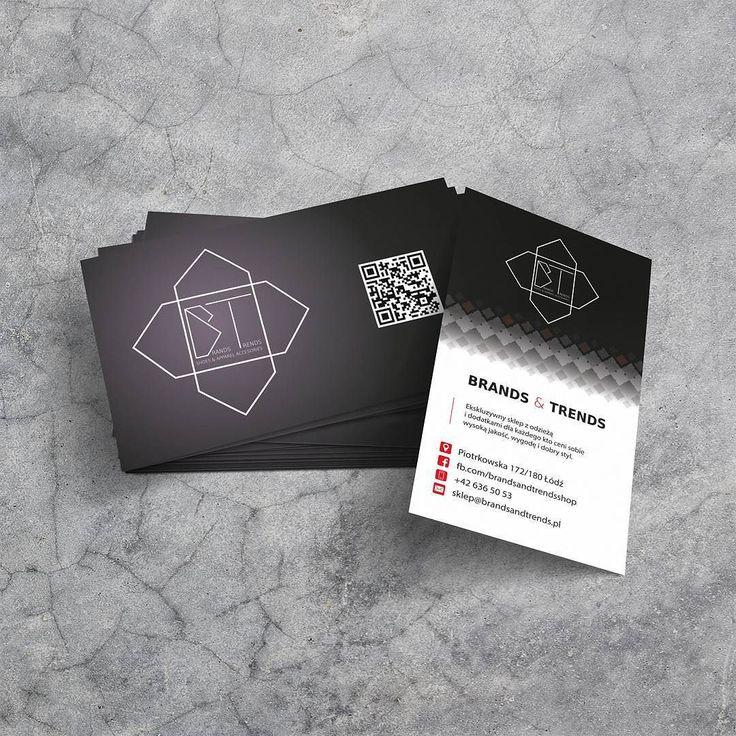 Projekt i wydruk wizytówek UV dla Brends&Trends z Łodzi #projektgraficzny #graphicdesign #wizytowka #businesscard #lodz #mgraphics #buskozdroj #nadajemyksztaltypomyslom www.mgraphics.eu