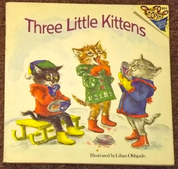 Three Little Kittens illustrated by Lilian Obligado - cover