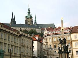 Prague Castle from Malostranske namesti