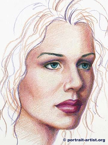how to draw a portrait with prismacolors