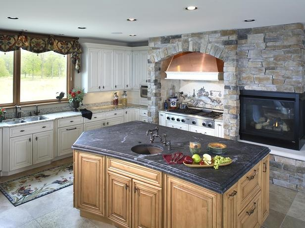 Custom Kitchen Islands Pictures Ideas Tips From Hgtv: 91 Best Kitchen Fireplaces Images On Pinterest