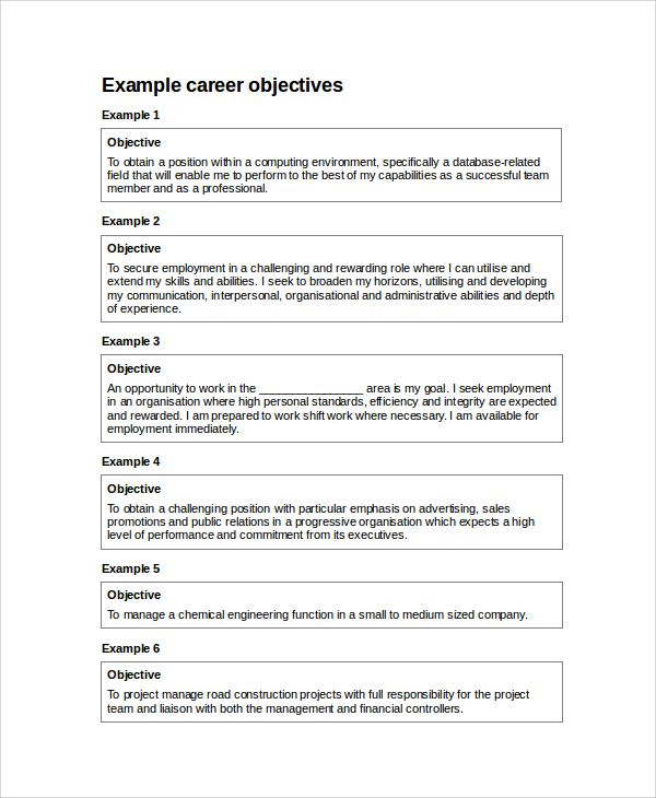 sample resume career objective example manager dawtek and esay