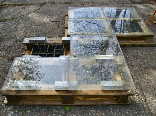 Students transformed these pallets into horizontal greenhouses for a school garden! See more repurposed pallets in the garden and upcyled into home decor and DIY furniture at http://pinterest.com/wineinajug/passion-for-pallets/