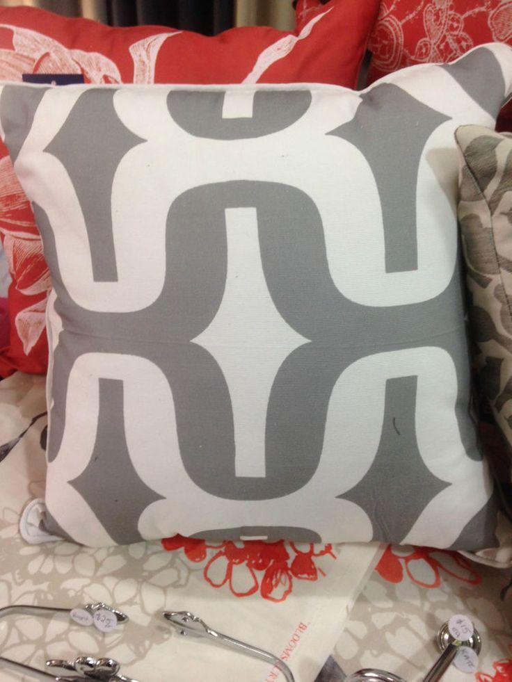 Zaab Homewares Geometric Cushion-Grey -45cm x 45 cm with Zip