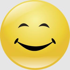 smiley 5 lacht FC sticker