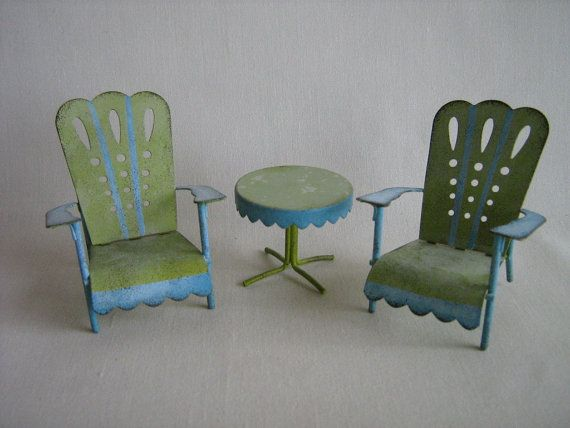dollhouse outdoor furniture. Adorable Miniature Dollhouse Metal Patio Furniture In One Inch Scale - 350 Best Vintage Doll Outdoor S