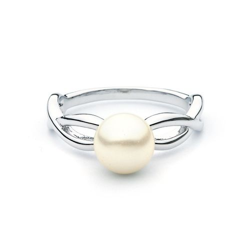 Entwined White Pearl Ring
