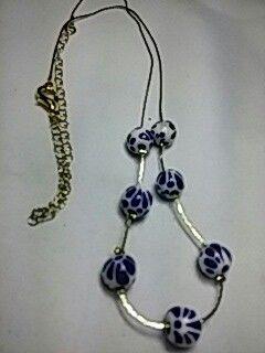collar de talavera mini con oro laminado