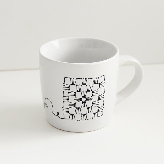 """Mom, I think you need this """"Granny Square"""" mug! It is so simple and adorable! Instantly made me think of you."""