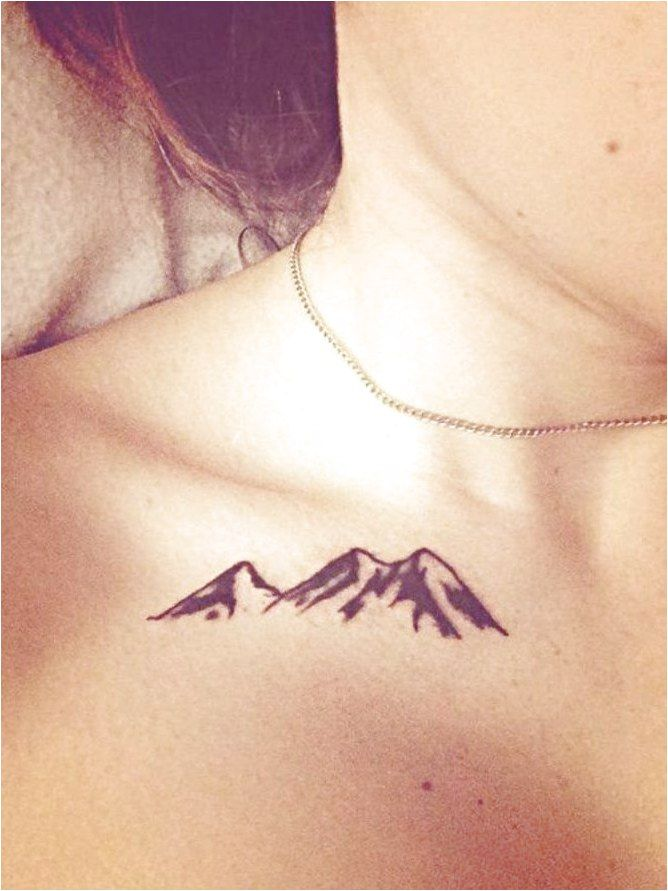 Line Mountain Tattoo #TattooInspiration Click to see more.