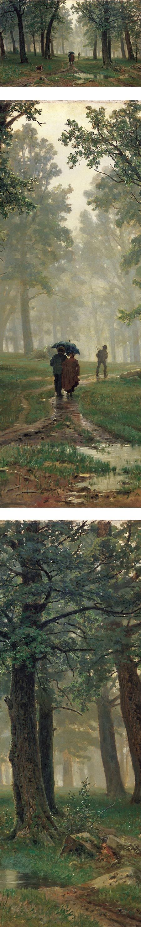 Rain in an Oak Forest, Ivan Shishkin
