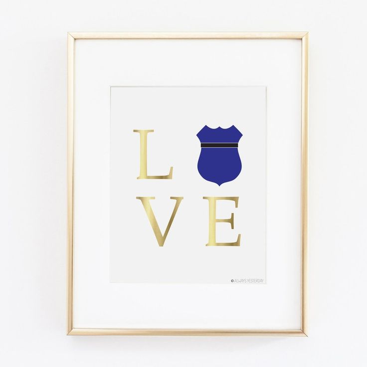 Police Shield Love Artwork