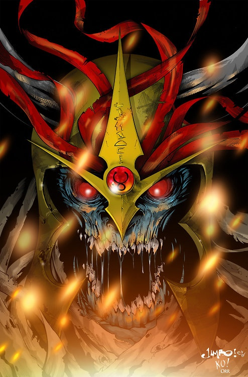 Mumm-Ra. So where are the thunder cats. I like that cartoon.