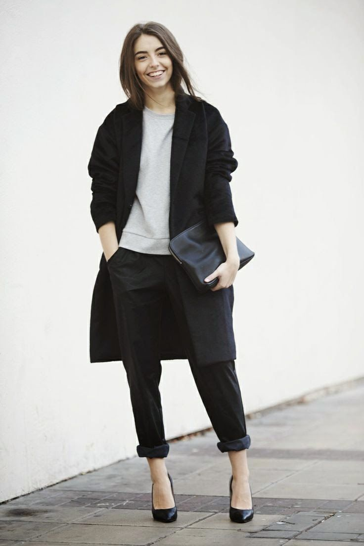FASHION AND STYLE: Grey & Black