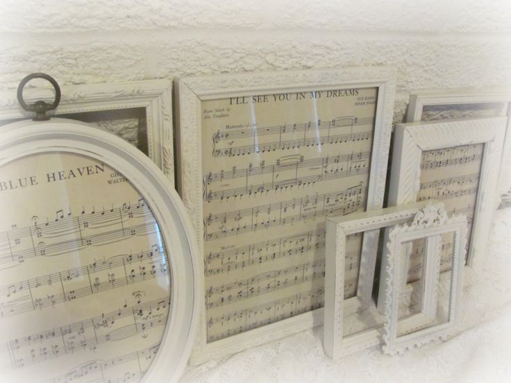 PICTURE FRAMES Shabby Chic Cream Picture Frame by theshabbychateau