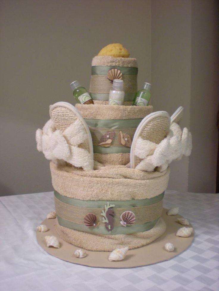 Towel Art Basket : Best ideas about wedding towel cakes on