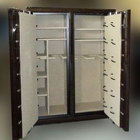 Double wide double door gun safe open doors