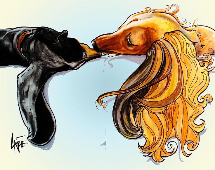 Dachshunds #7 Drawing  - Dachshunds #7 Fine Art Print