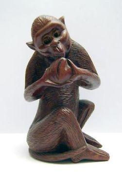 Houten Sculptuur Aapje Amsterdamse School