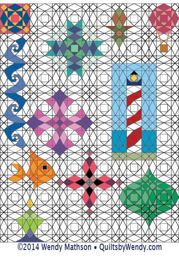 Storm At Sea Double Diamond Design Grids Adult Coloring Book My Style