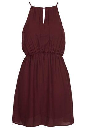 **Maroon Chiffon Dress by Goldie