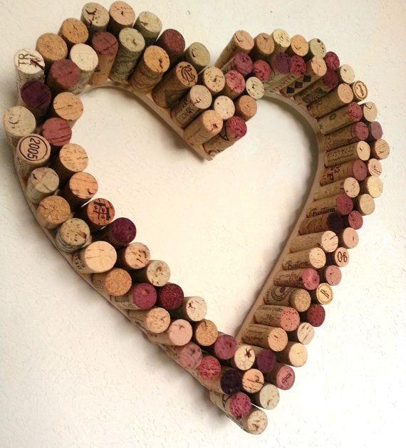 Wine Cork Heart Wreath by alpinewinedesign on Etsy, $49.00