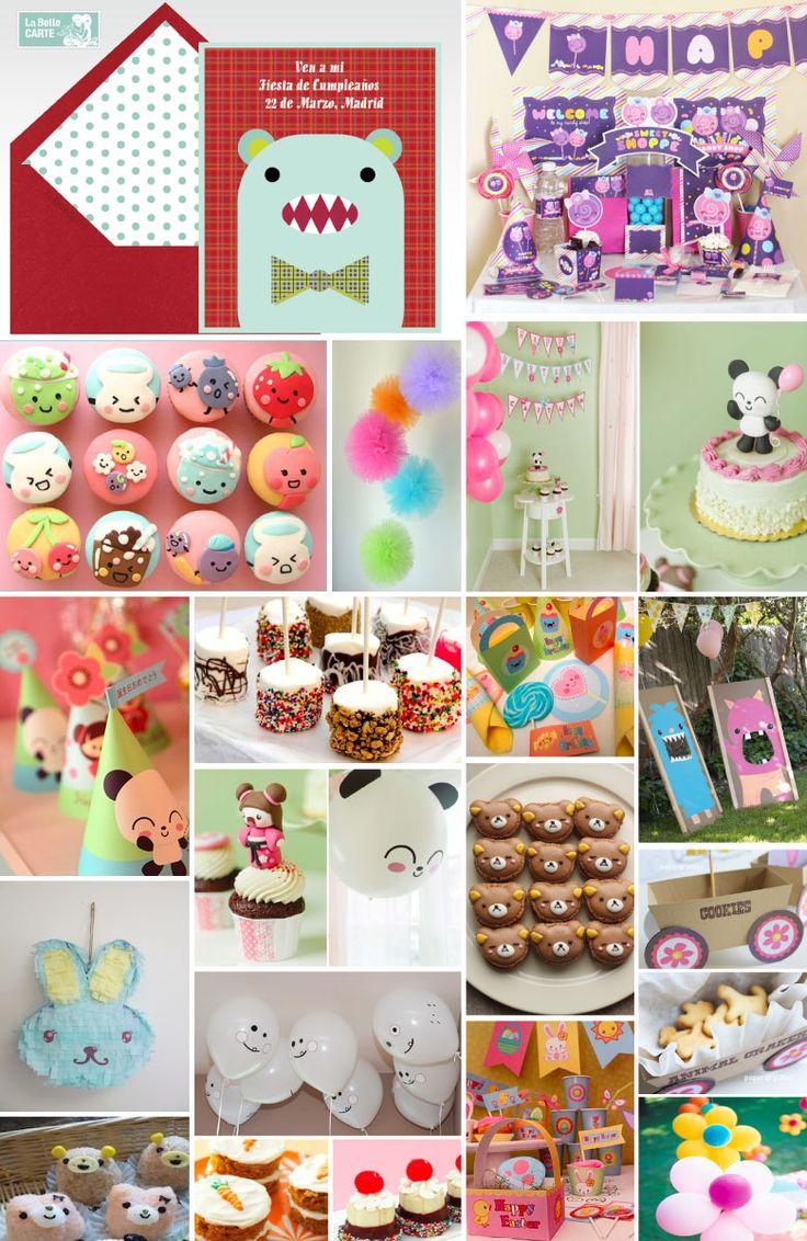 Invitaciones de cumpleaños, invitaciones para cumpleaños, cumpleaños kawaii, ideas cumpleaños kawaii, fiesta kawaii, pompones, gominolas.    Para Más Info Visita: www.LaBelleCarte.com    Birthday online invitations, birthday online cards, Kawaii Party, kawaii, cute, sweet, cupcakes, ideas for parties    For More Info Visit: www.LaBelleCarte.com/en