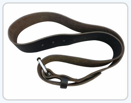 "Roller Buckle Work Belt 2 3/4"" wide work belt in heavy saddle leather Fits waist size 29""-46"" Heavy duty double pronged metal roller buckle"