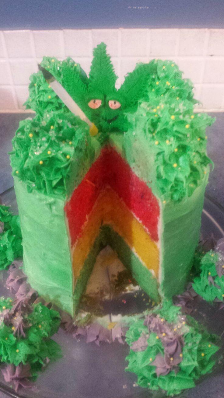 Marijuana birthday cake