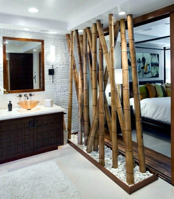 cloisons superbe salle de bains en bois intressante - Deco Salle De Bain Bambou