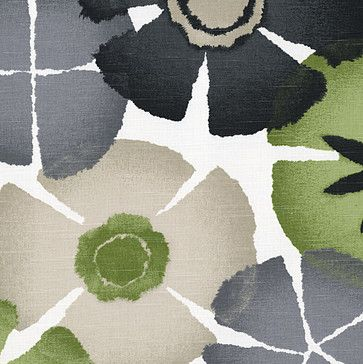 Gray & Green Giant Ombre Botanical Fabric modern-upholstery-fabric