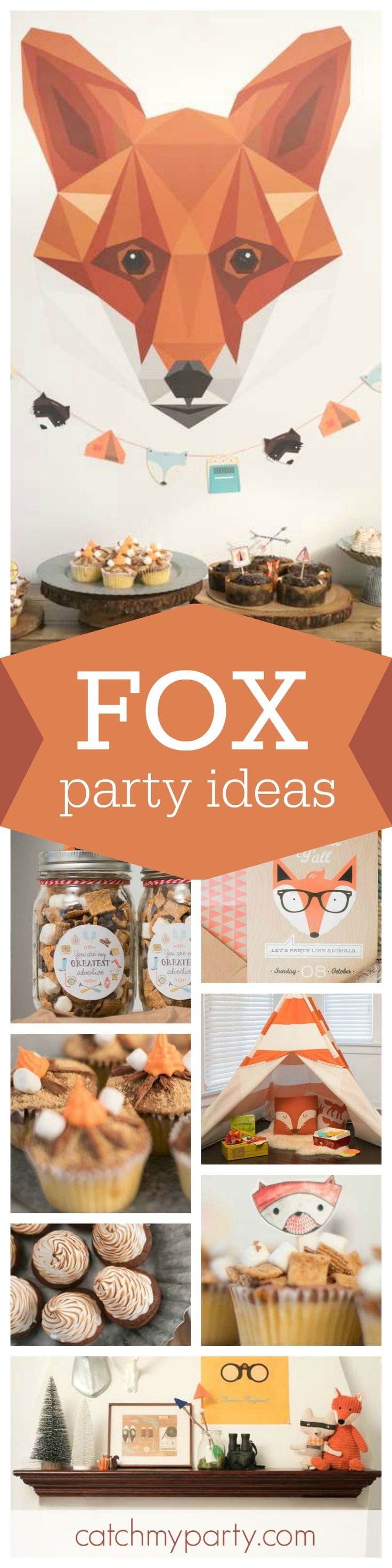You have got to take a look at this fantastic Fox themed Fall BBQ. The campfire cupcakes are so awesome!! See more party ideas and share yours at CatchMyParty.com